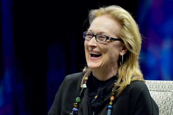 Meryl Streep incontra gli studenti dell'Università del Massachusettes