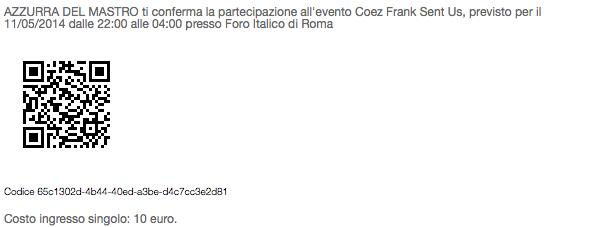 Il QR code con cui accedere in pochi secondi all'evento