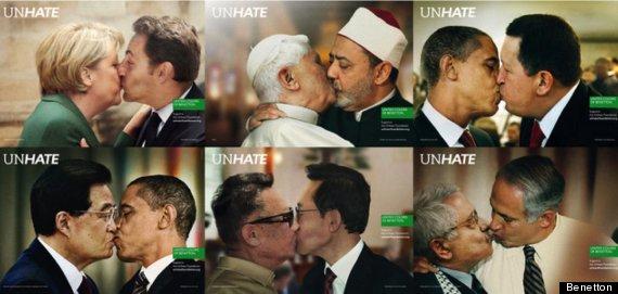 Papa Francesco bacia Peres come nella campagna Benetton