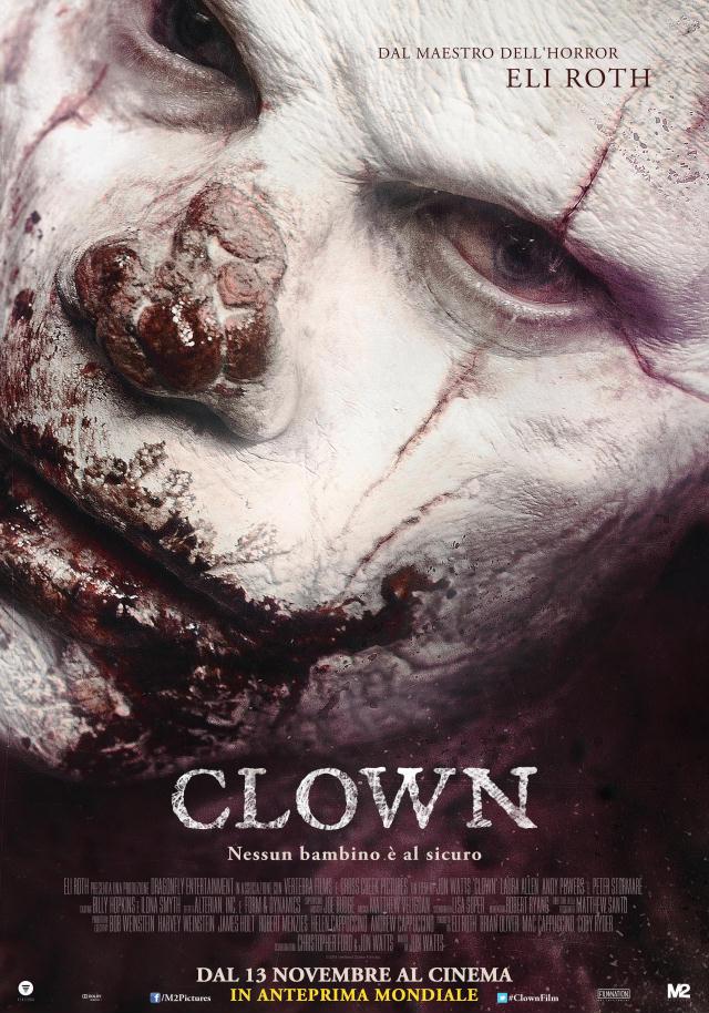 CLOWN poster non censurato