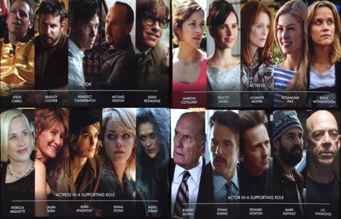 Gli attori nominati agli Oscar 2015