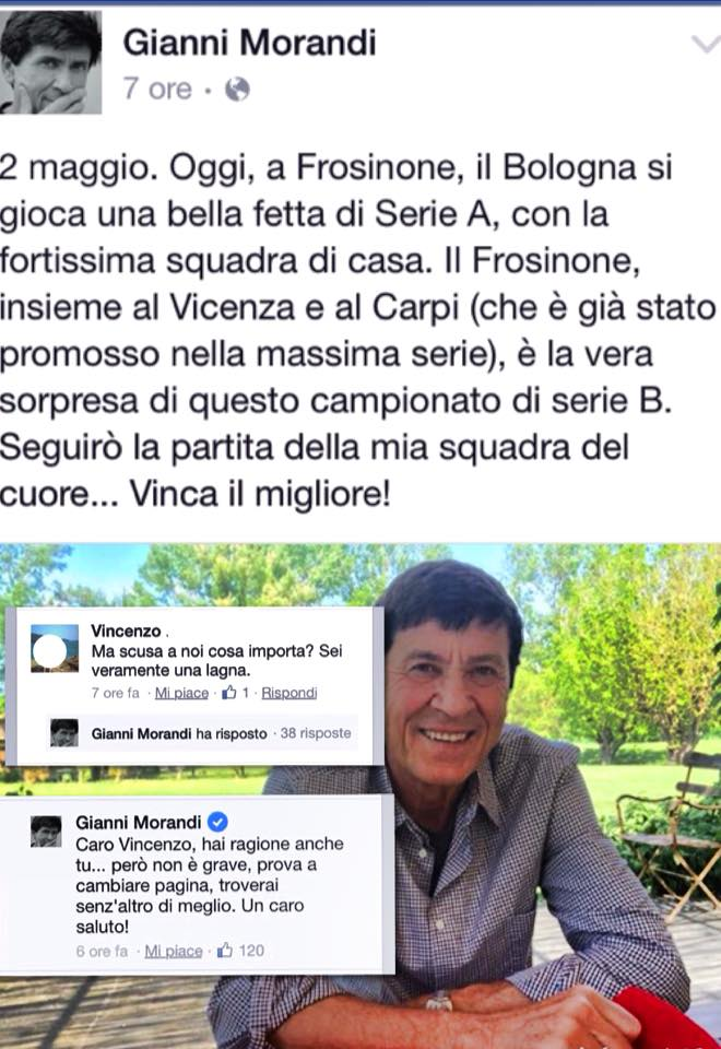 Gianni Morandi, l'idolo bon ton di Facebook