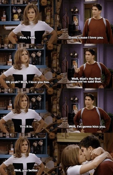 19 anni fa Rachel e Ross si dicevano ''Ti amo''