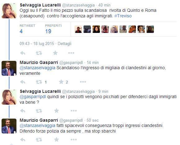 Lucarelli vs Gasparri, la polemica sugli immigrati (FOTO)
