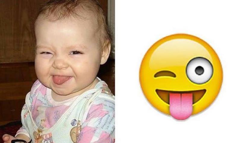 Se le facce dei bambini fossero emoticons