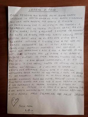 Grande Fratello 14, la lettera di Alessandro a Federica