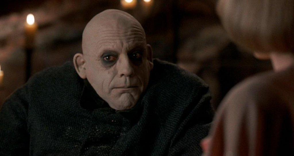 Christopher Lloyd nei panni di Fester ne 'La famiglia Addams' (1991)