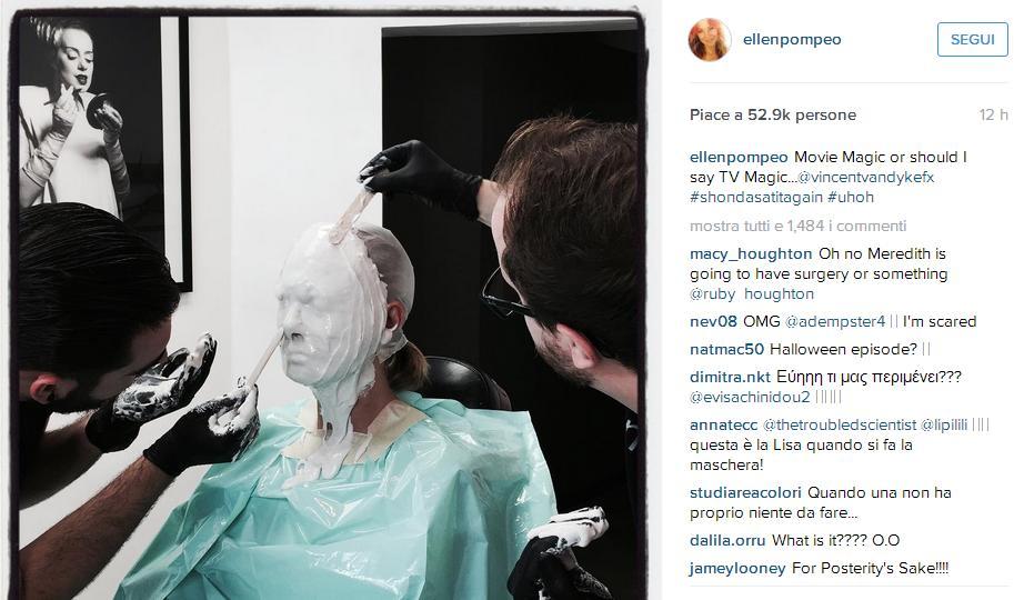 Grey's Anatomy, la foto di Ellen Pompeo che spaventa i fan