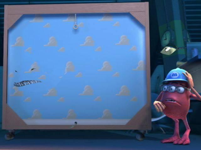 Lo sfondo di Toy Story in Monsters & Co.