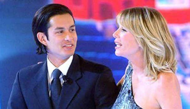 Andrea Cocco insieme ad Alessia Marcuzzi