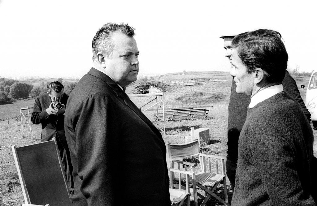 Pasolini con Orson Welles sul set de 'La ricotta' (in 'Ro.Go.Pa.G.'), 1963