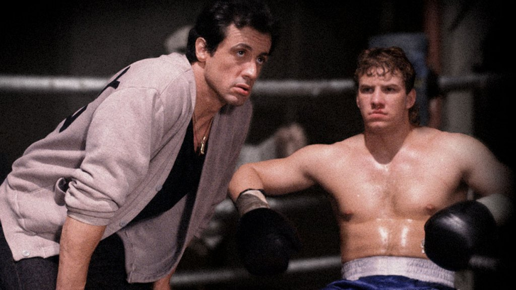 Sylvester Stallone e Tommy Morrison in 'Rocky V'
