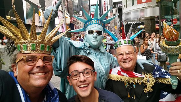 Antonio, Davide e il Boss a New York