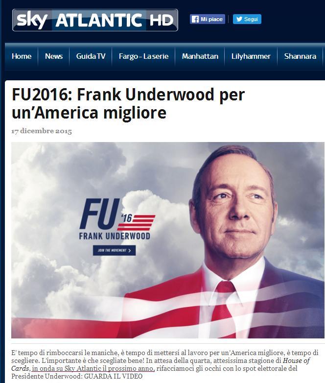 House of Cards 4: sarà guerra Netflix-Sky Atlantic?