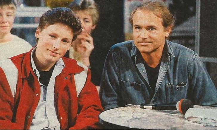 Terence Hill insieme al figlio Ross, negli anni '80