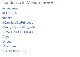 'Ciao Darwin' è il primo trending topic mondiale su Twitter