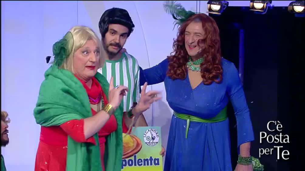 C'è posta per te ospiti Matteo Salvini e la coppia Greggio-Iacchetti