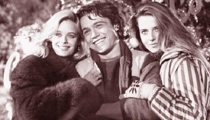 Karina Huff sul set di 'Vacanze di Natale' insieme a Claudio Amendola e Antonella Interlenghi
