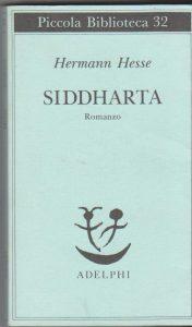 """Copertina """"Siddharta"""" dell'edizione Adelphi."""