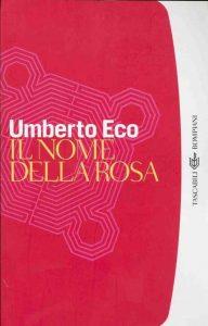 """Copertina de """"Il nome della rosa"""" edizione Bompiani."""