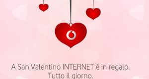 Vodafone 4GB in regalo a San Valentino