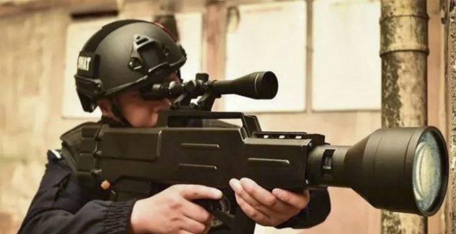 cina fucile laser