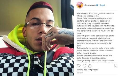 Sfera Ebbasta strage Instagram