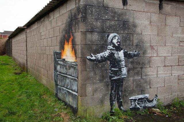 Banksy natale 2018