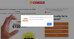 Whatsapp 150 euro conad